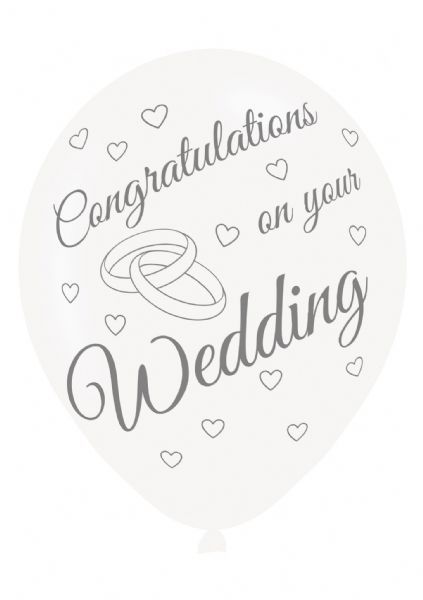 Congratulations On Your Wedding Latex Balloons